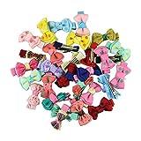 Tefamore 30pcs/viele Kinder, Mädchen, Prinzessin, Baby Spot drucken Band Haar Clip Haar Accessoires Band Bow Blume Haarnadeln & Baby Mädchen Haarspangen