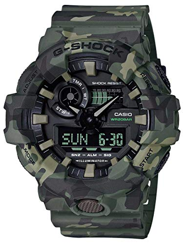 Price comparison product image G-Shock Men's GA700CM-3A Watch Camo Green