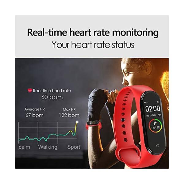 CHUANGE Fitness Tracker HR, Reloj de Seguimiento de Actividad con Monitor de frecuencia cardíaca, Banda de Fitness Inteligente a Prueba de Agua con Contador de Pasos, Adecuado para niños y niñas. 3