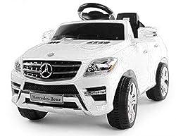 Toyas Lizenz Kinderfahrzeug Mercedes Benz Jeep SUV ML350 Kinderauto Elektroauto 2X 25W Motor Fernbedienung MP3 Anschluss in Schwarz