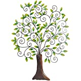 [Sponsored]Anil Art & Craft Iron Tree Wall Hanging For Decorative, Home Decor And Room Decor (54 Cm X 3 Cm X 70 Cm, Green & Brown)