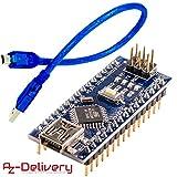 AZDelivery Nano V3.0 CH340 Chip fertig verlötete, verbesserte Version mit USB Kabel, 100 % Arduino Nano V3 kompatibel