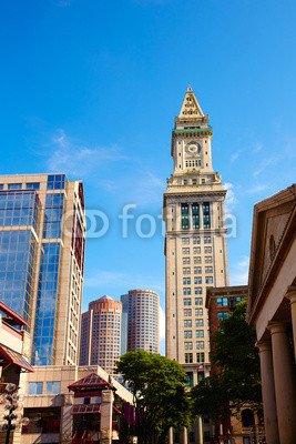 druck-shop24 Wunschmotiv: Boston Clock tower Custom House Quincy Market #82576378 - Bild als Foto-Poster - 3:2-60 x 40 cm/40 x 60 cm (Quincy Market)