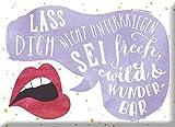 Grafik Werkstatt 60697 Magnet   Lass Dich Nicht Untergriegen …. Kühlschrank-Magnet   lustig mit Spruch   9 x 6, 5 x 0, 4 cm   Vintage   Retro   Nostalgic Magnet, Metall, Uni, 9 x 6, 5 cm