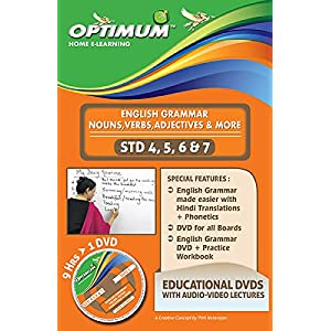 Optimum Educators English Grammar Basic For Std 4-5-6-7 Educational DVDs