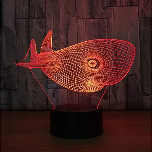 Nette Head Shark Usb Tischleuchte Nightlight 3D Lampe Led-Licht Kinder Nightlight Visuelle Led-Nachtlichter Illusion Stimmung