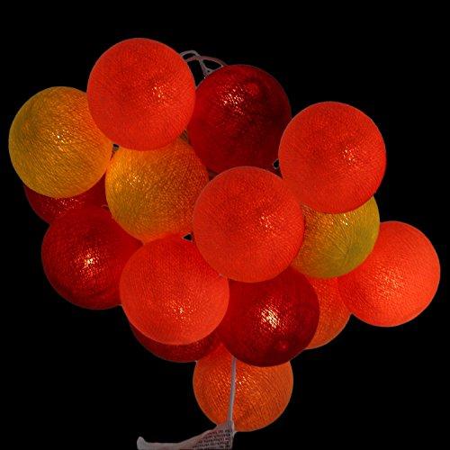 te Stoff Kugel zum dekorieren für Innenräume mit 20 Bällen in rot - orange - gelb (Orange Und Gelb)