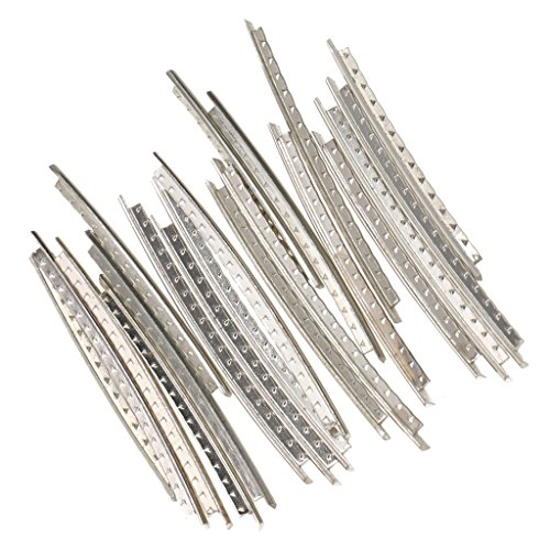 Sharplace 20X Messing Bunddraht Fret Wire Fretwire 2.0mm für Volk/Akustische Gitarre (Akustische Gitarre Größentabelle)