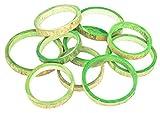 NaDeco Bambus Ringe apfelgrün ca. 10x1cm 10 STK.