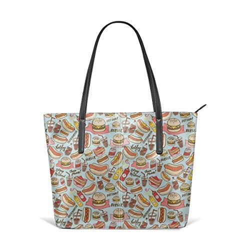 Dama Home Handtaschen für Frauen, BBQ Satchel Leder Umhängetasche, Totes Geldbörsen Messenger Bags -