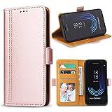 Bozon Galaxy J5 2017 Hülle, Leder Tasche Handyhülle für Samsung Galaxy J5 (2017) Schutzhülle mit Ständer und Kartenfächer/Magnetverschluss (Rose Gold)