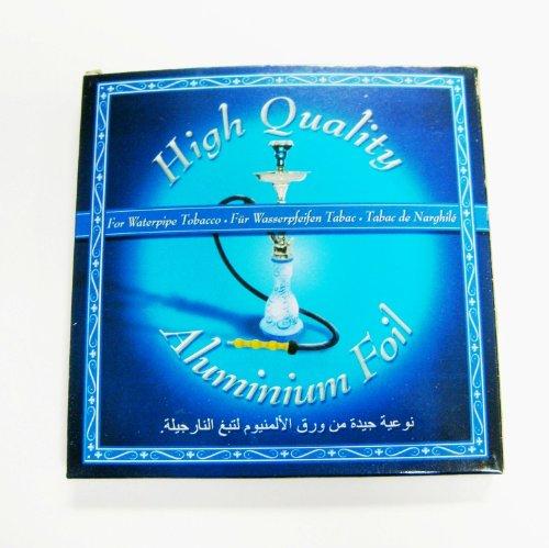 Chicha Shisha Narguilé - 100 x Feuilles Aluminium Haute Qualité - Ø 12 cm