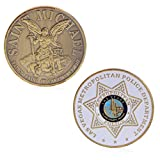 rryilong Collection de Monnaies commémoratives Art Plating Las Vegas Metropolitan Golden Police