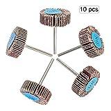 (10 PCS) OOTSR roue de rabat de papier de sable 80 grains, roue de polissage de papier abrasif pour perceuse, broyeur, outil rotatif...