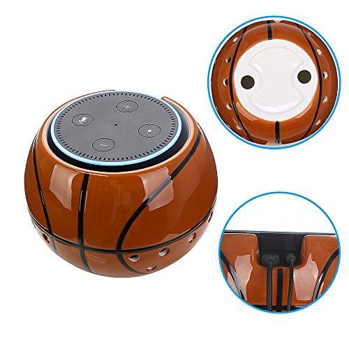 Amazon Echo Dot Halterung Basketball/Football/Baseball Wandhalterung Deckenhalterung Schutzhülle Lautsprecher Ständer für Amazon Echo Dot 2. und 1. Generation Alexa Schutzzubehör Tischhalter Stand für erhöhte Stabilität (Basketball)