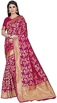 CLOTHAM Women's Kanchipuram Art Silk Saree With Blouse P