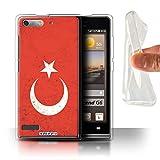 Stuff4® Gel TPU Hülle/Case für Huawei Ascend G6 / Türkei/Türkische Muster/Flagge Kollektion