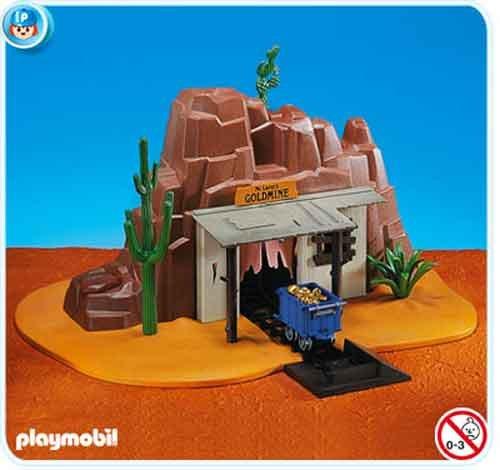 PLAYMOBIL 7857 - Mina de oro con lingotes