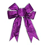 Best Gardeningwill decoraciones de Navidad - 6pcs 5pulgadas Glitter artificiales boda adorno flores árbol Review