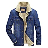 e34cae7594b2 VICGREY Giacca in Denim da Uomo Giacche di Jeans Invernali e Autunno Manica  Lunga Casual Jacket