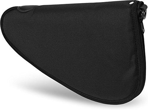 Abschließbare, weich gepolsterte Pistolentasche mit umlaufendem Reißverschluss und Abschließvorrichtung Farbe Black Größe S (Gepolsterte Reißverschluss-tasche)