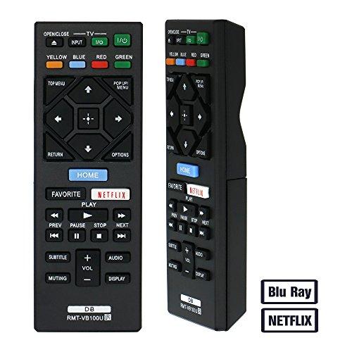 Grock Blu Ray télécommande de rechange compatible pour SONY Rmt-vb100u Remote (lecteur de DVD), Applicables Bdpbx150 Bdp-bx150 Bdpbx350 Bdp-bx350 Bdpbx550 Bdp-bx550 Bdp-bx650 Bdpbx650 Bdps1500 Bdp-s1500 Bdp-s2500