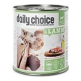 daily choice | Mit Lamm | 6 x 800 g | Nassfutter für Hunde | Extra viel pures Fleisch & Innereien | Getreidefrei | Optimal verdaulich | Hergestellt in Deutschland | Ohne Tierversuche, Zucker, Farb- & Konservierungsstoffe