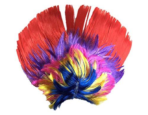 ohikaner Hahn Mohawk Perücken Regenbogen Rot 1 ()