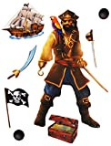 Unbekannt 8 tlg. Set _ Wandtattoo / Sticker -  Pirat & Piratenschiff  - Wandsticker + ..