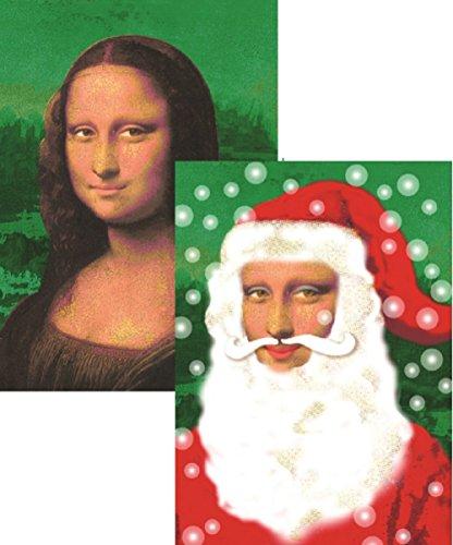 Wendekreis Wackel-Postkarte Monalisa-Weihnachtsmann von Editions Cartes d`Art (Weihnachtsmann Postkarten)