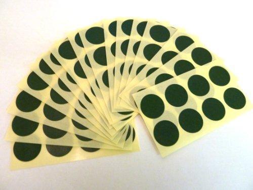 135 Etiquetas , 19mm Diameter Redondo , Verde Oscuro , Código De Color Adhesivos , auta-Adhesivo adhesivo Puntos De Colores