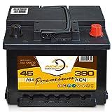 Autobatterie 12 V / 45 Ah - 390 A/EN 54599 Adler ers. 35 37 38 40 44 46 47 48 Ah