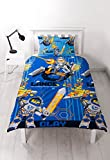 LEGO Nexo Knights Ritter Bettwäsche blau 2 tlg. Kissenbezug 48x74 + Bettbezug 135x200 cm