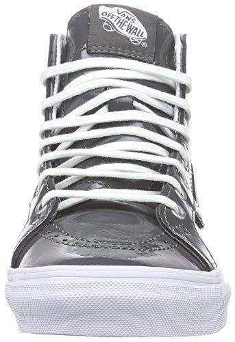 Vans Sk8-hi Slim Zip, Unisex-Erwachsene Hohe Sneakers Grau (tumble Patent/pewter)