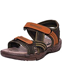Twin Kids Fashion Casual Sandal TWS-0204 Tan and Mehandi colours