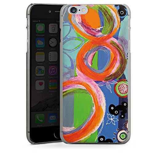 Apple iPhone X Silikon Hülle Case Schutzhülle Abstrakt Muster Kreise Hard Case anthrazit-klar