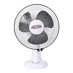 AIRTOP New Collections 12 Wall Cum Table High Speed Fan (300 mm) 85 Power Watt White Black Fan