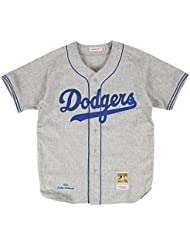 Jackie Robinson Brooklyn Dodgers Mitchell & Ness Authentic 1955 Road Jersey Maillot
