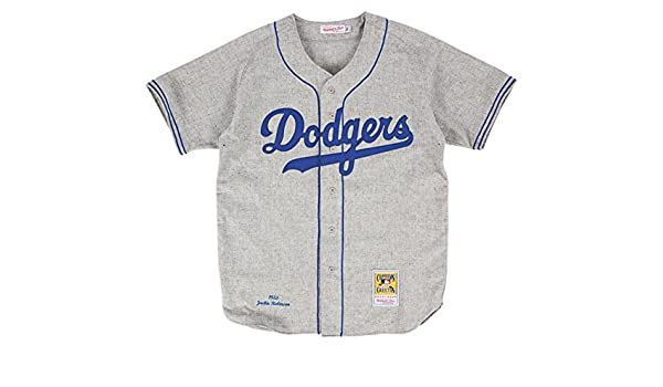 c6bf988f379b Jackie Robinson Brooklyn Dodgers Mitchell & Ness Authentic 1955 Road  Jersey: Amazon.co.uk: Sports & Outdoors