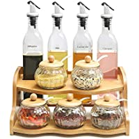 JANSUDY Frasco De Especias De Vidrio Para Cocina Botella De Condimento SóLido Estante De Especias CombinacióN