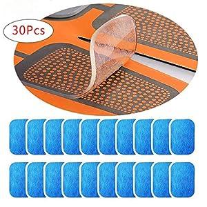 EMS Gel Pad, für EMS Muskelstimulator,Elektrostimulation, Muskel Trainer, EMS Trainingsgerät,30 Stück Gel Pad(2 Stück/Beutel, 15Beutels/Schachtel)