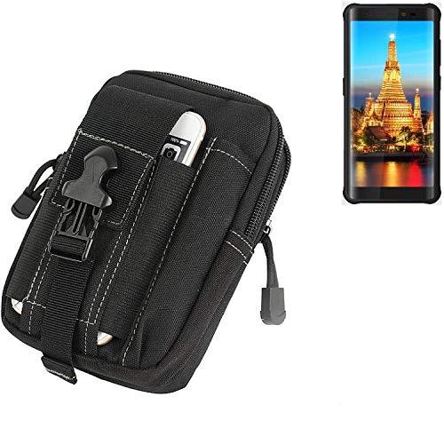 K-S-Trade Gürtel Tasche für Energizer H590S Gürteltasche Schutzhülle Handy Hülle Smartphone Outdoor Handyhülle schwarz Zusatzfächer