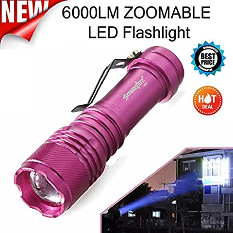 Xmansky 6000LM CREE Q5 AA / 14500 3 Modi Sky Wolf Eye CREE LED Q5 ZOOMABLE LED Taschenlampe Super Bright