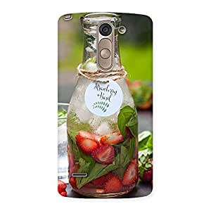 Impressive Strawberry and Basil Multicolor Back Case Cover for LG G3 Stylus