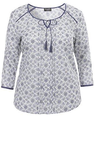 Zarte Baumwoll-Bluse mit floralem Allover-Muster KORNBLUME MULTICOLOR