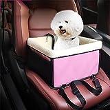 LOHUA Trasportino da auto per sedile, cesto porta seggiolino cane gatto animali domestici con cinghie di sicurezza