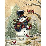 Bits and Pieces - 1000 Piece Jigsaw Puzzle - Winter Friends, Snowman - by Artist Janet Stever - 1000 pc Jigsaw
