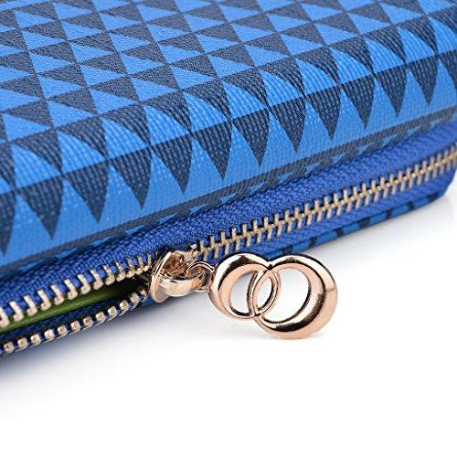 Kroo Pochette/étui style tribal urbain pour HTC One M9 Multicolore - White with Mint Blue Multicolore - bleu marine