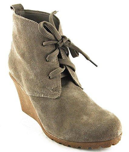 Ulla Popken Schuhe Stiefel Stiefelette High Heels Taupe 2056, Schuhgröße:38
