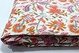 #9: 2.5 meter Cotton fabric for garments Jaipuri Dress Making Fabric Hand Block Print Cotton Fabric